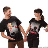 BoldLoft Keep Calm And Love Me Matching Couple Shirts Black