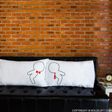 Gay Couple Wedding Gifts-A Kiss for You Gay Couple Pillowcase Set