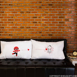 Spiderman Gifts for Boyfriend BoldLoft Captured by Your Love His and Hers Pillowcases Couple Gifts
