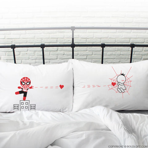boldloft spiderman gifts for him couples pillowcases