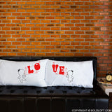 BoldLoft Bubbling With Love For You™ Couple Pillowcases