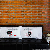 BoldLoft We're Irresistibly Attracted Couple Pillowcases-Batman Gifts