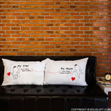 BoldLoft Love You All Night Long Couple Pillowcases