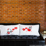 BoldLoft Love Goes Toward Love Couple Pillowcases