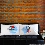 BoldLoft Made for Loving You Couples Pillowcases-Superman Gifts