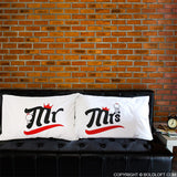 BoldLoft Mr & Mrs Couples Pillowcases