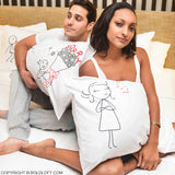 Forgive Me Please!™ Couple Pillowcase Set