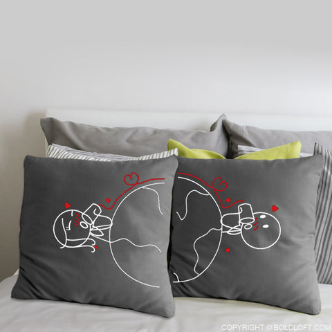 Love Has No Distance™ Euro Pillow Covers