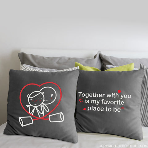 Together is My Favorite Place to Be™ Euro Pillow Covers