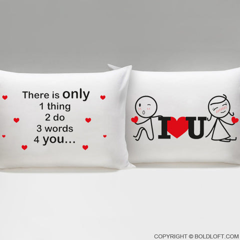 Sale New 3 Words for You™ Couple Pillowcases