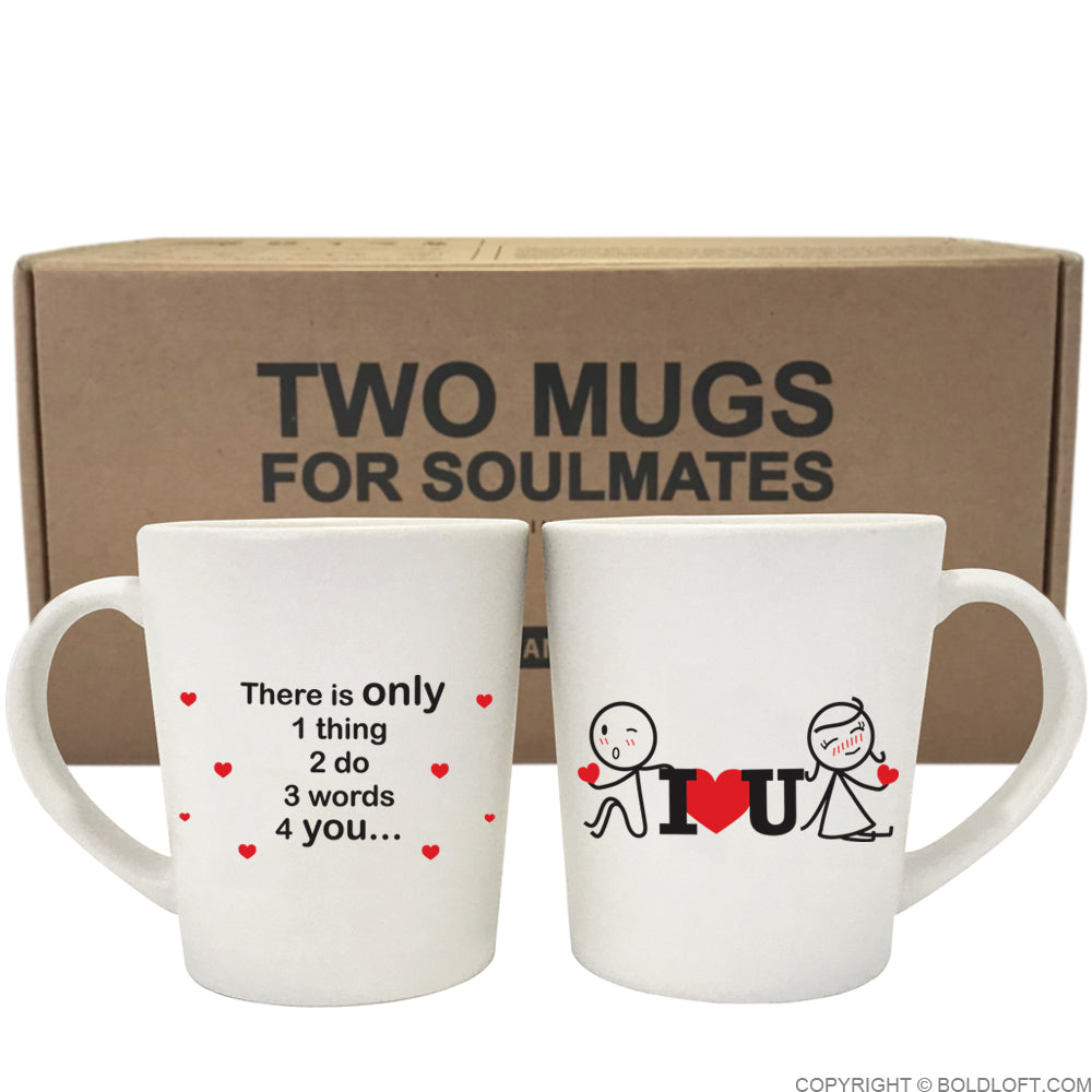 3 Words for You™ Couple Coffee Mugs