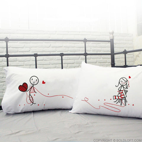 boldloft couples pillowcases his and hers pillowcases for boyfriend girlfriend