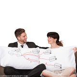 Wedding Gifts-BoldLoft Happily Ever After Mr and Mrs Pillowcases