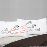 Newlywed Gifts-BoldLoft BoldLoft Happily Ever After Bride & Groom Pillowcases