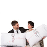 BoldLoft Tie The Knot Mr and Mrs Pillowcases