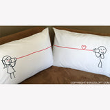 Couple Pillowcases-BoldLoft Say I Love You Too His and Hers Pillowcases
