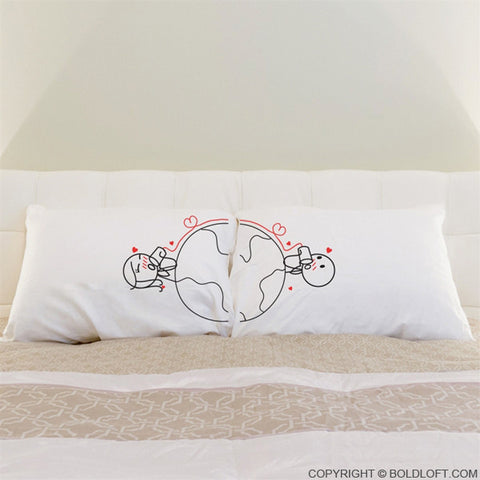 Love Has No Distance™ Couple Pillowcases