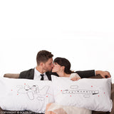 Wedding Gifts for Bride & Groom-BoldLoft Just Married Couple Pillowcases