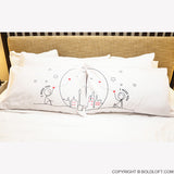 Miss Us Together™ His & Hers Couple Pillowcases
