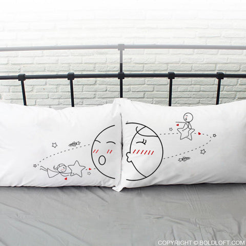 You Are My World™ Couple Pillowcase Set
