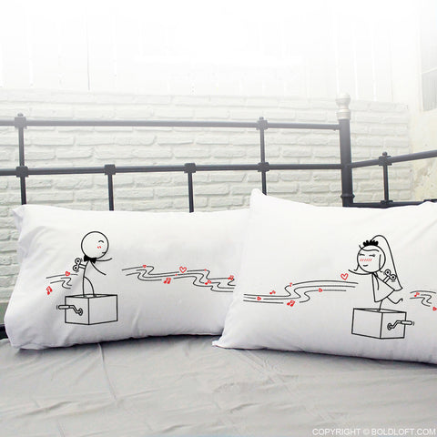 Bride & Groom Gifts-BoldLoft Endless Love His and Hers Pillowcases