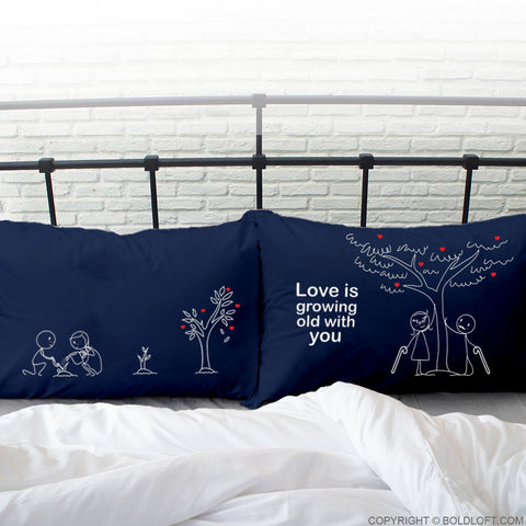 boldloft couple pillowcases his hers pillow cases dark blue