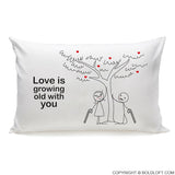 Grow Old with You™ Couple Pillowcases (Right)
