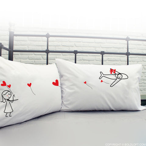 Gift for long distance couples-No Matter The Distance His and Hers Pillowcases