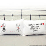 You Stole My heart™ Couple Pillowcase Set