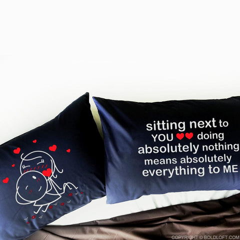 You Mean Everything to Me™ Couple Pillowcases (Dark Blue)