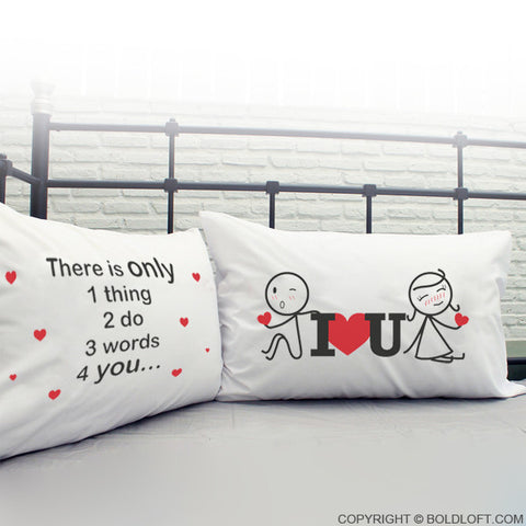 ... 3 Words for You Couple Pillowcase Set ...