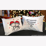 Merry Christmas™ Couple Pillowcase Set