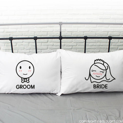 A Perfect Match™ Bride & Groom Pillowcase Set