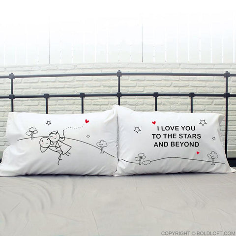 Love You to The Stars & Beyond™ Couple Pillowcases