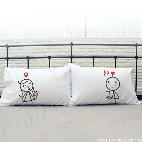 We are Connected™ Couple Pillowcases