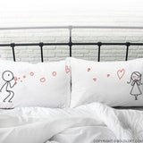 Valentines Gifts for Her-From My Heart to Yours His and Hers Pillowcase Set
