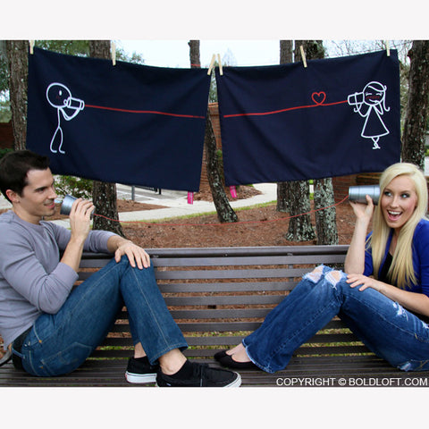 Say I Love You™ Couple Pillowcases (Dark Blue)