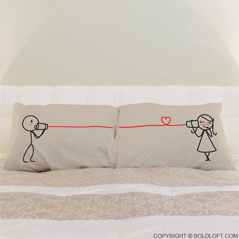 Say I Love You™ Couple Pillowcases (Khaki)