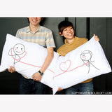 My Heart Beats For You Couple Pillowcase Set
