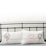 My Heart Beats For You™ Couple Pillow Cases