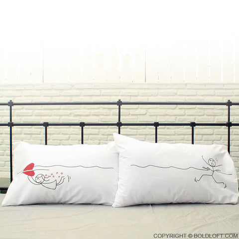 BoldLoft My Heart is After You Couple Pillowcases
