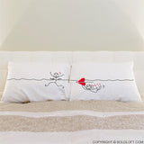 My Heart is After You™ Couple Pillowcases