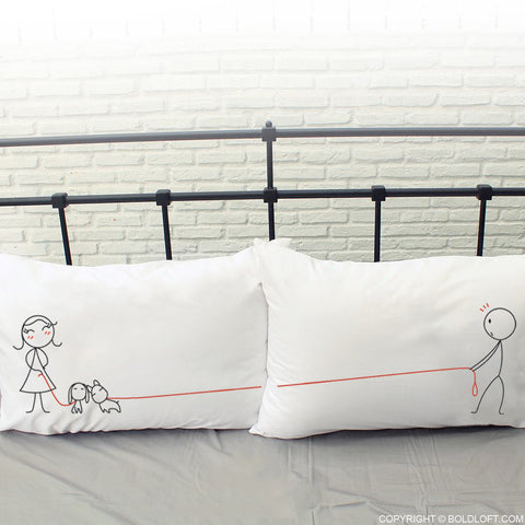 BoldLoft We Belong Together His and Hers Pillowcases