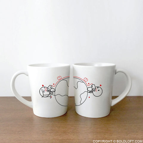 Love Has No Distance™ Couple Mug Set