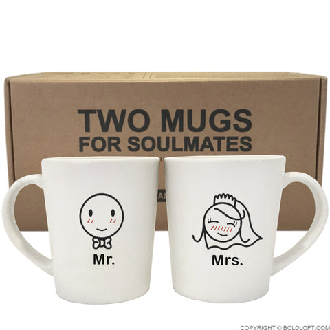 A Perfect Match™ Bride & Groom Couple Mug Set