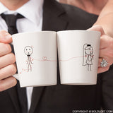 BoldLoft Tie the Knot Mr and Mrs Coffee Mugs