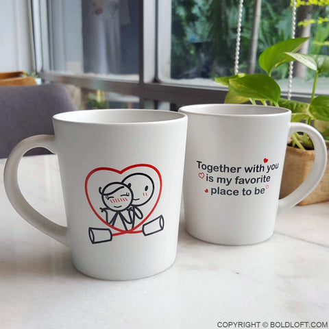 Together is My Favorite Place to Be™ Couple Mugs