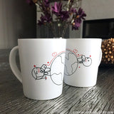 Love Has No Distance™ Couple Coffee Mugs
