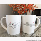 Newlywed Gifts-BoldLoft Just Married Bride & Groom Coffee Mugs