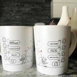 Wish You Were Here™ Couple Coffee Mugs
